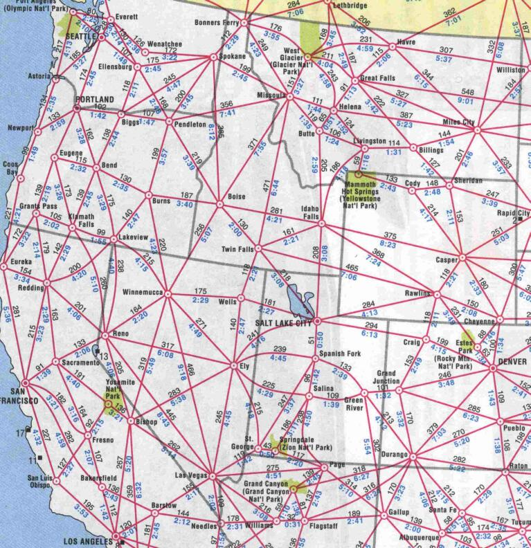 Us Map With Driving Distances Pages